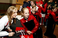 Nastia Liukin signs autographs on the concourse