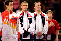 The men line up for the opening ceremonies