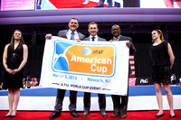 The presentation of the banner for the 2016 AT&T American Cup