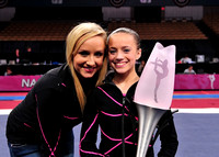 Nastia Liukin and All-Around Champion Lexie Priessman