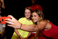 Alicia Sacramone takes a selfie with a fan