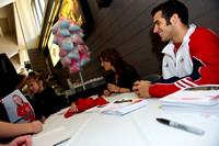 Danell Leyva signs autographs