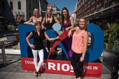 Jaycie Phelps, Sam Peszek, Carly Patterson, Shannon Miller and Bridget Sloan