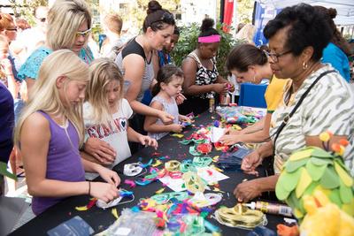 Fan activities on Georgia Street