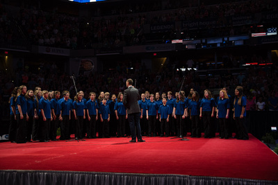 National anthem by the Indianapolis Children's Choir
