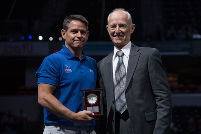 Tom Meadows was named the junior coach of the year