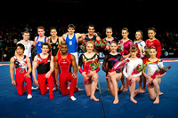 The entire field of competing athletes