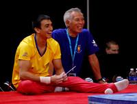 Jorge Giraldo Lopez and his coach