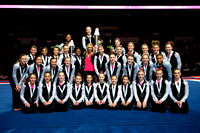 All the competitors with Nastia Liukin