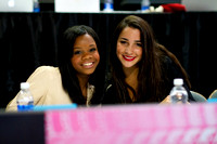 2012 Olympic gold medalists Gabby Douglas and Aly Raisman