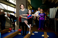Shannon Miller made an appearance at the Kellogg's Nutrition and Fitness Zone