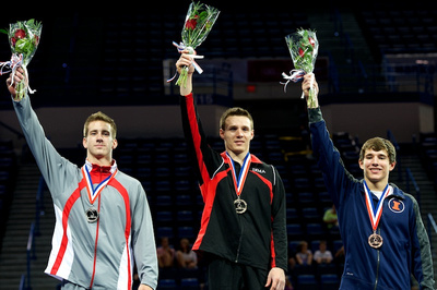 Top three in the all-around for the 17-18 age group