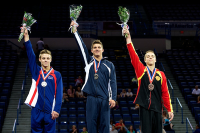Top three in the all-around for the 15-16 age group