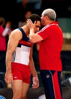 Danell Leyva with his coach, Yin Alvarez