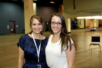 Shannon Miller and Chellsie Memmel