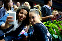 McKayla Maroney takes a picture with a fan