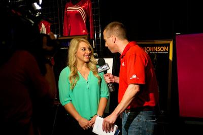 Samantha Peszek is interviewed