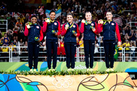 USA, winners of the team gold medal