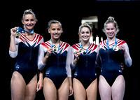USA women's gold medalists - Charlotte Drury, Alyssa Oh, Shaylee Dunavin, Jessica Stevens
