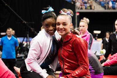 Simone Biles and Maggie Nichols