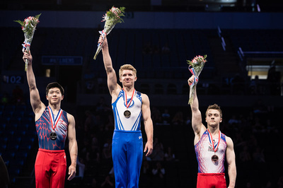 Top three in the all-around for 15-16 year olds
