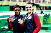Simone Biles and Laurie Hernandez show off their medals