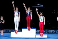 Junior Men's Vault medalists
