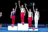 Junior Men's Parallel Bars medalists