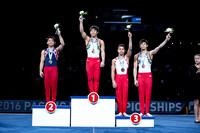 Junior Men's Still Rings medalists