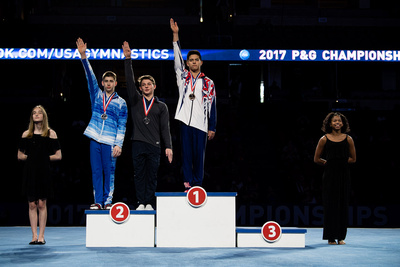 15-16 Parallel Bars Medalists