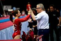 Jordyn Wieber with her coach
