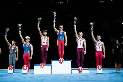 Top six in the all-around