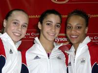 Rebecca Bross, Alexandra Raisman and Kytra Hunter