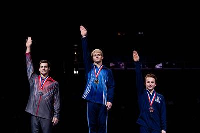 17-18 Vault Medalists