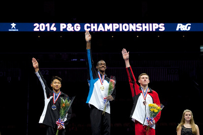 Age 17-18 all-around medalists