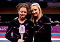 Nastia Liukin and Diandra Milliner, 3rd place finisher in the All-Around