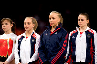 The women line up for their final rotation