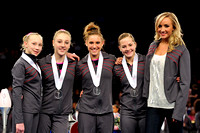 Nastia with the top four finishers