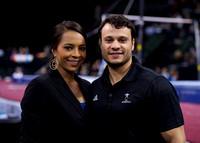 Hosts Tasha Schwikert and David Durante