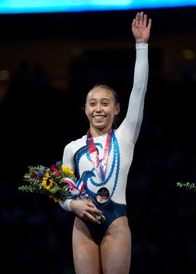 Katelyn Ohashi, the junior all-around champion