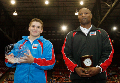 Jonathan Horton and coach Miles Avery