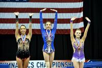 Rhythmic ribbon medalists