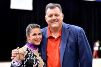 USA Gymnastics President Steve Penny with Rhythmic Olympian Julie Zetlin