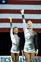 Women's pair balance medalists