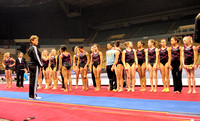 The girls line up for National Team Coordinator Martha Karolyi