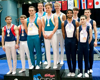 Men's Team medalists