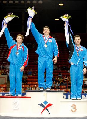 All-Around Medalists - David Sender, Jonathan Horton, Joseph Hagerty