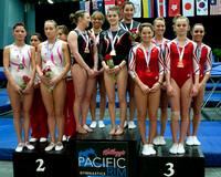 Women's Team medalists