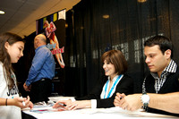 David Durante and Shannon Miller sign autographs