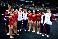 U.S. team with coaches
